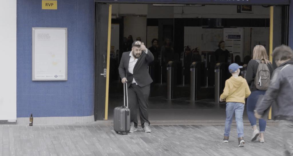 Mark Arriving in London